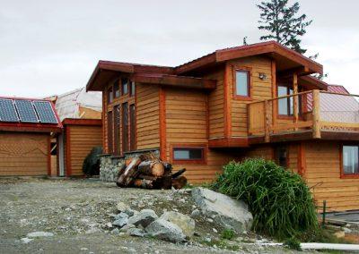 Custom log cabin construction