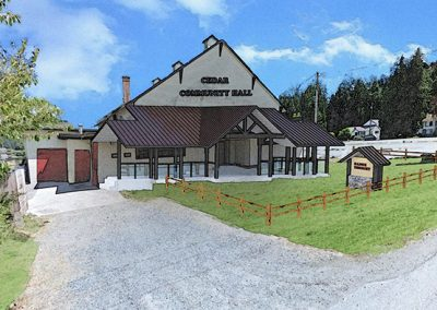 Cedar Community Hall rendering