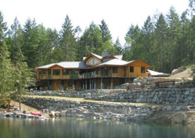 Lakeside custom home