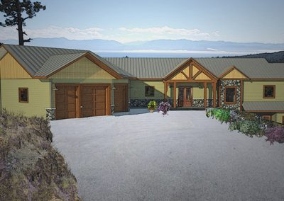 Harmless home front entrance rendering