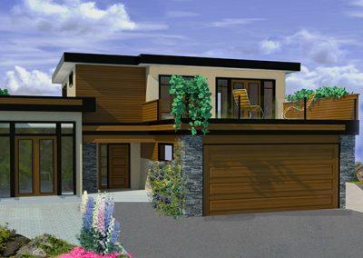 Modern green building design