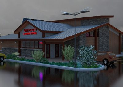 Windward Liquor Store rainy rendering