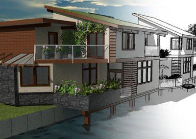 Waterfront construction concept