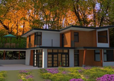 Modern eco friendly home design